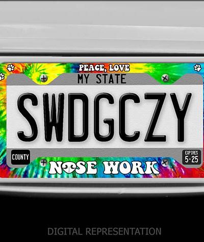 Nose Work License Plate Frame