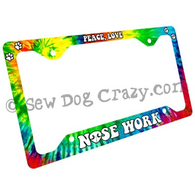 Scent Work License Plate Frame