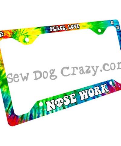 Scent Work License Plate Frame