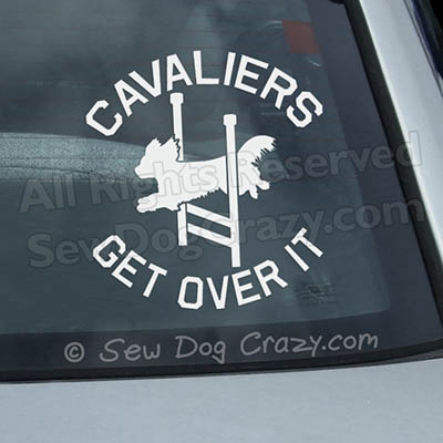 Agility Cavalier Car Window Sticker