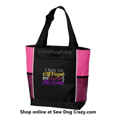 Embroidered Dog Show Tote Bag