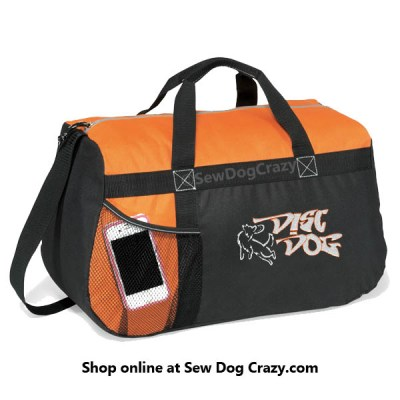 Embroidered Disc Dog Duffel