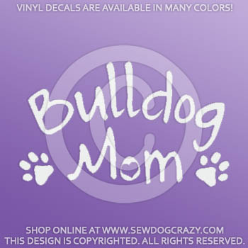 Bulldog Mom Car Decals
