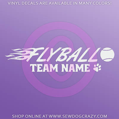 personalized flyball decals
