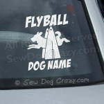 Custom Flyball Car Sticker