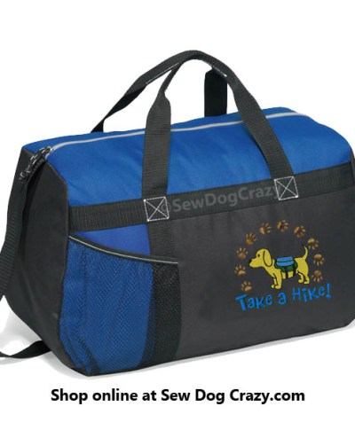 Embroidered Dog Backpacking Duffel