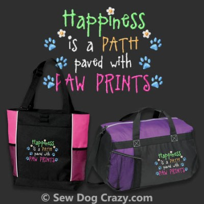 Embroidered Dog Lover Bags