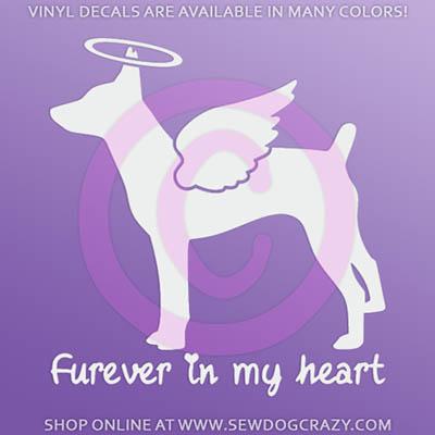 Angel Rat Terrier Car Sticker