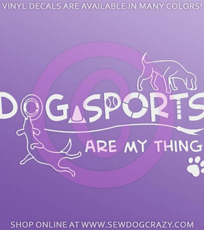 Dog Sports Car Window Sticker