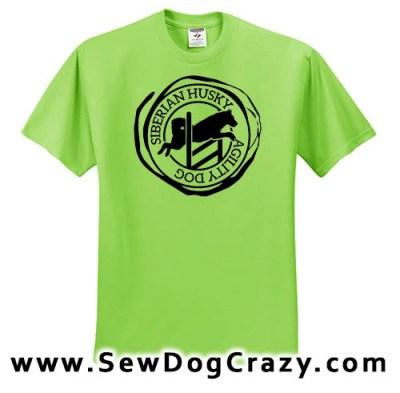 Siberian Husky Agility TShirt