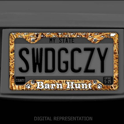 Barn Hunt License Plate Frame