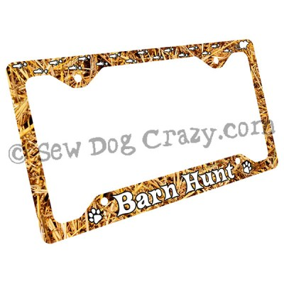 Rat Tracks Barn Hunt License Plate Frame