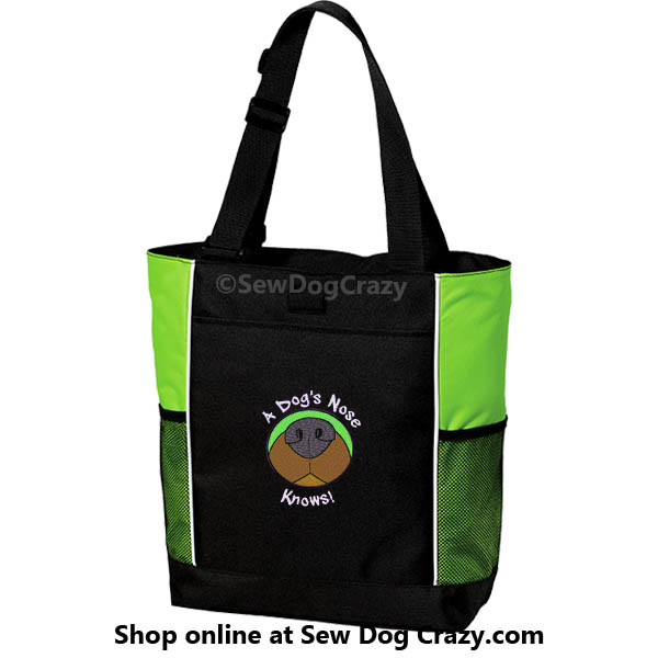 Embroidered Nose Work Tote Bag