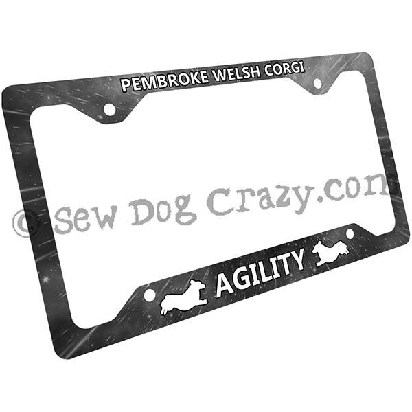 PEMBROKE WELSH CORGI DOG DOGS License Plate Frame Tag Holder