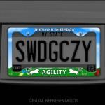 Sheltie Agility License Plate Frame