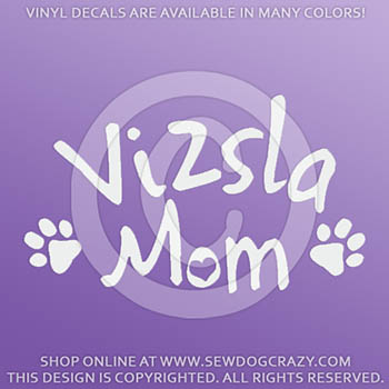 Vinyl Vizsla Mom Stickers