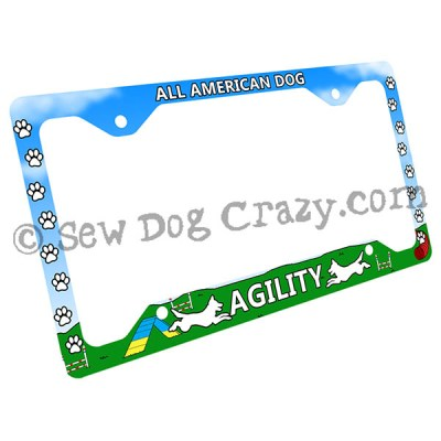 Mixed Breed Agility License Plate Frame