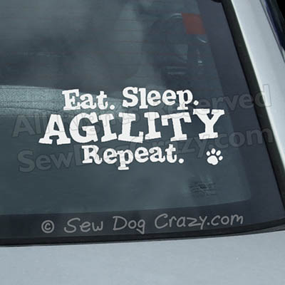 Eat Sleep Agility Car Window Sticker