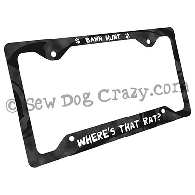 Where's that rat Barn Hunt license plate frame
