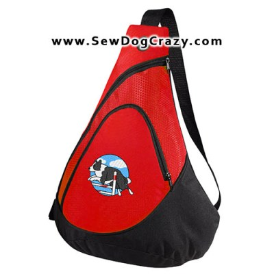 Embroidered Border Collie Bar Jump Bag