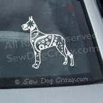 Great Dane Car Window Sticker