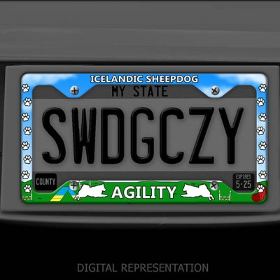 Agility Iceland Sheepdog License Plate Frame