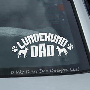 Lundehund Dad Car Window Sticker