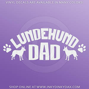 Lundehund Dad Car Decal