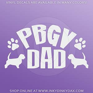 PBGV Dad Car Decal