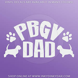 PBGV Dad Car Decal