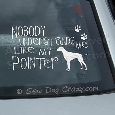 Pointer Car Window Sticker