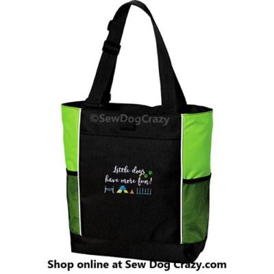 Teacup Agility Embroidered Bag