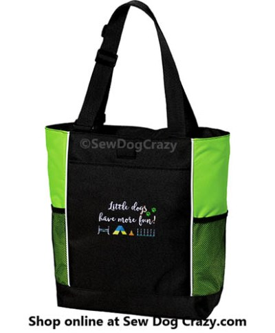Teacup Agility Embroidered Bag