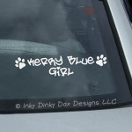 Kerry Blue Girl Decal