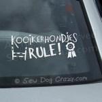 Kooikerhondjes Rule Decal