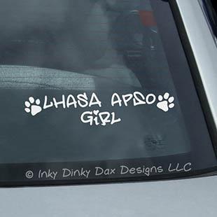 Lhasa Apso Girl Vinyl Sticker