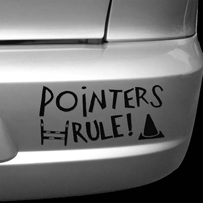 Pointers Rule Car Stickers