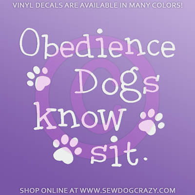 Dog Obedience Vinyl Decal