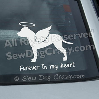 Angel Staffordshire Bull Terrier Decal