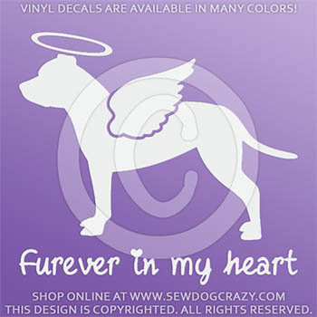 Angel Staffordshire Bull Terrier Sticker
