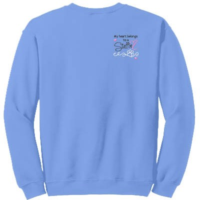 Embroidered Heart Staffordshire Bull Terrier Sweatshirt