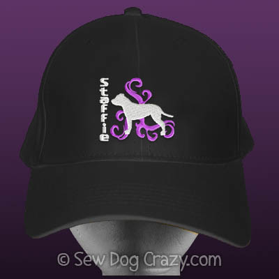 Embroidered Staffordshire Bull Terrier Hat