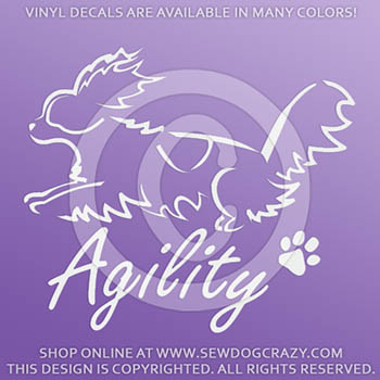Agility Papillon Sticker