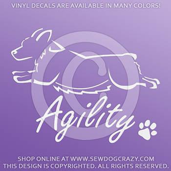 Agility Corgi Vinyl Sticker