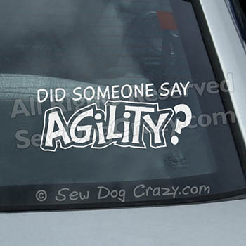 Dog Agility Car Window Sticker