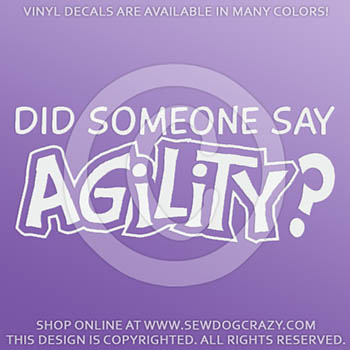 Dog Agility Car Window Decal