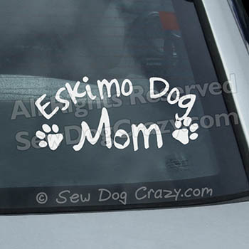 Eskimo Dog Mom Car Decal