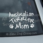 Australian Terrier Mom Car Sticker