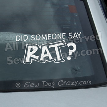 rat dog sport decal