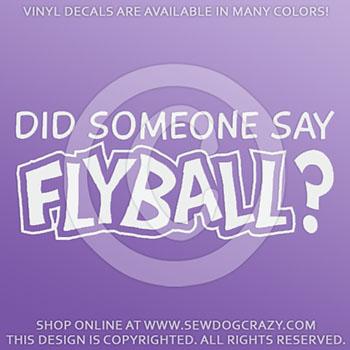 Flyball Car Sticker